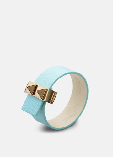 Clasp Rivets Thin Bracelet Gold - Eau de Nil