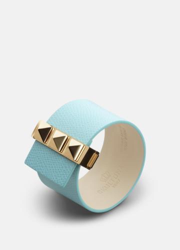 Clasp Rivets Bracelet Gold - Eau de Nil