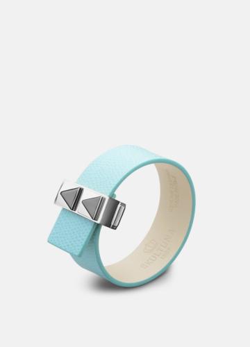 Clasp Rivets Thin Bracelet Steel - Eau de Nil