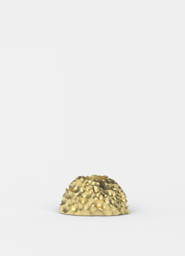 Opaque Objects Candle Holder, Gold