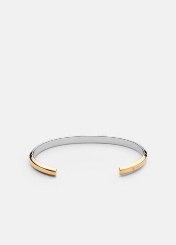 Skultuna Icon cuff thin two tone gold & steel -  Thin bangle