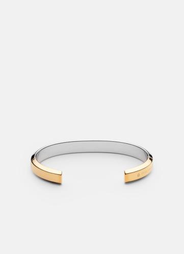 Skultuna Icon cuff two tone - Bangle two tone - gold & steel