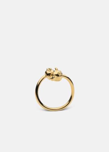 Nordic Wildlife Collection Gold Plated - Bear ring