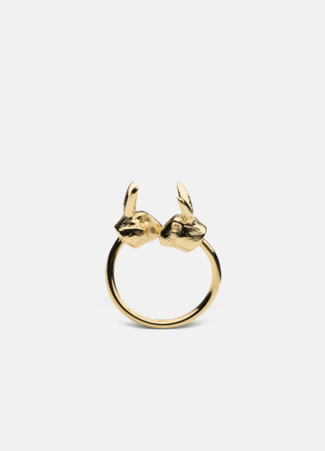 Nordic Wildlife Collection Gold Plated - Hare ring