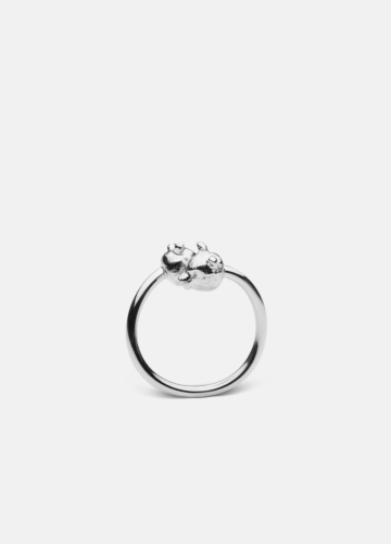 Nordic Wildlife Collection Polished Steel - Bear ring