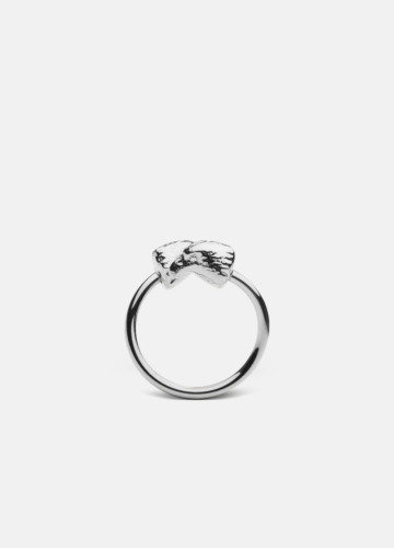 Nordic Wildlife Collection Polished Steel - Eagle ring