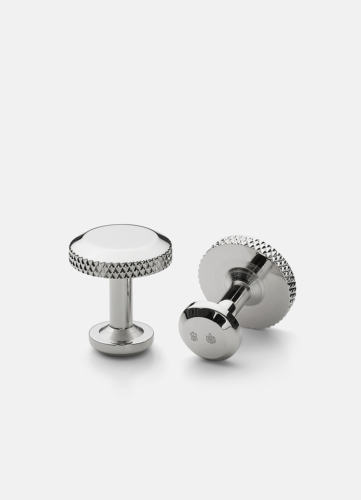 Icon Cuff Link Model 8 - Polished Steel