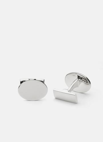 Black Tie - Silver Oval