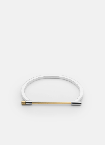 Omega Bangle - Steel & Gold