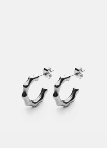 Bambou Petit Earring - Polished Steel
