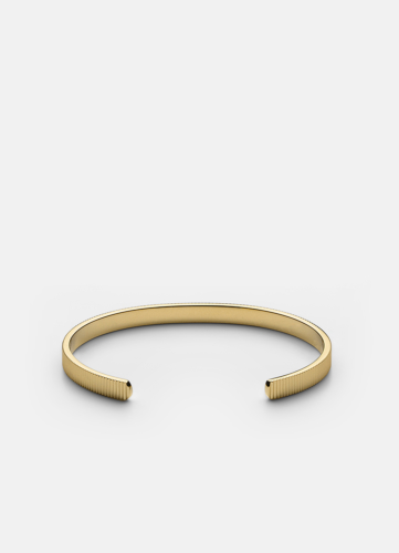 Ribbed Cuff Thin - Gold Plated