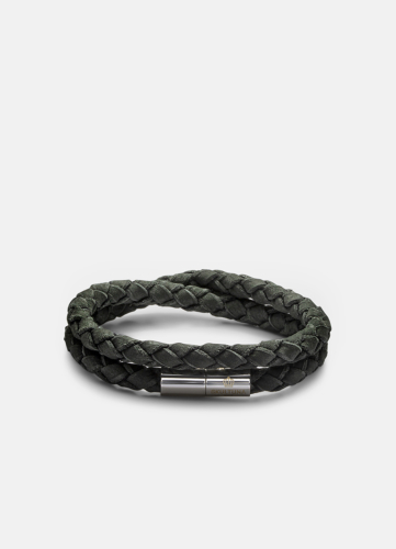 Suede Bracelet - Dark Green