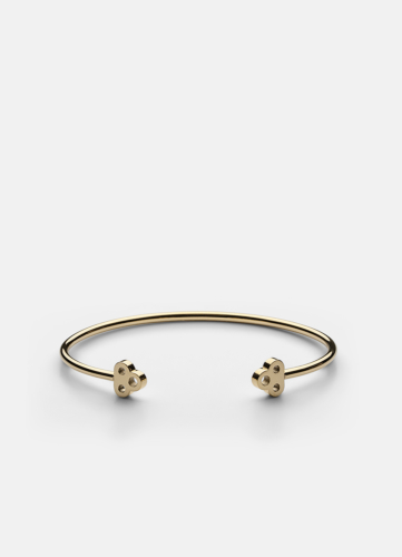 Open Key Cuff - Gold Plated