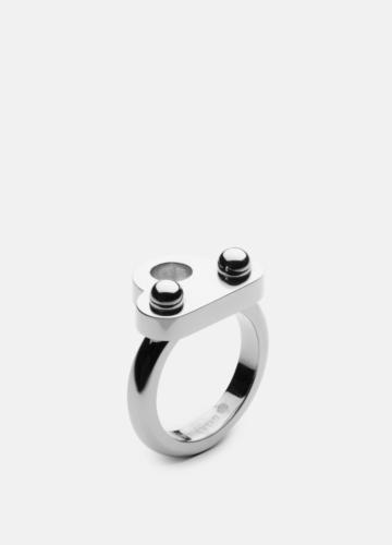 Key Signet Ring - Polished Steel