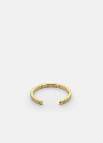Ribbed Ring Thin - Gold Plated