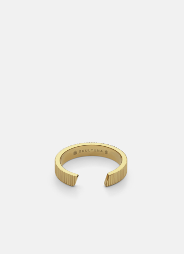 Ribbed Ring - Gold Plated