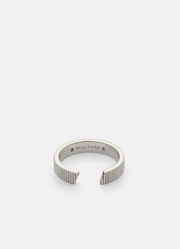 Ribbed Ring - Polished Steel