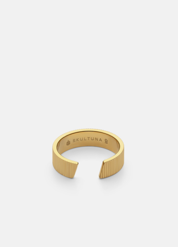 Ribbed Ring Thick - Gold Plated
