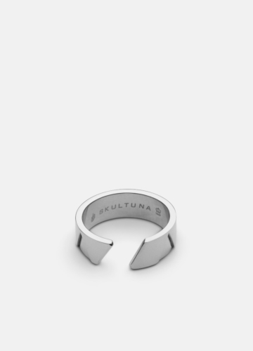 GTG X Skultuna Ring  Wide - Polished Steel