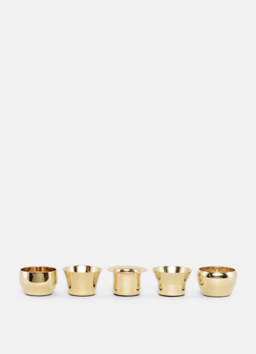 Skultuna Kin brass, set of 5. Candle holder made of brass.
