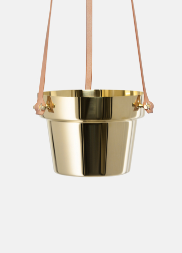 Hanging Flower Pot Polished Brass