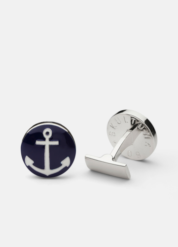The Anchor Silver - Blue & White