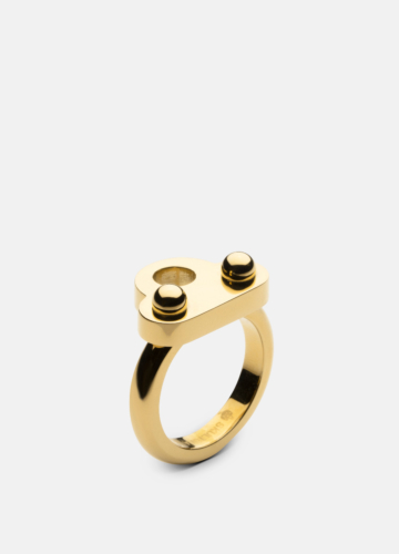 Key Signet Ring - Gold Plated