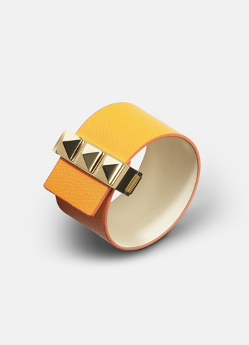 Clasp Rivets Bracelet Gold - Orange