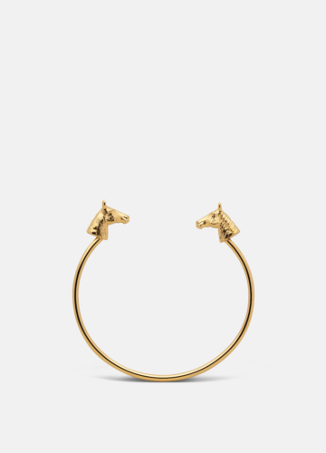 GTG Horse Cuff Thin - Gold Plated