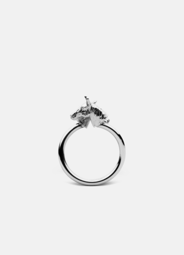 GTG Horse Ring - Polished Steel
