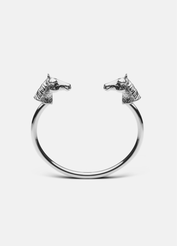 GTG Horse Cuff - Polished Steel