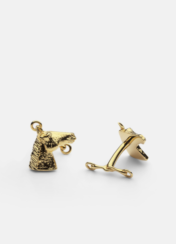 GTG Horse Cufflink - Gold