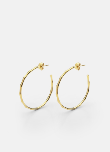 Bambou Earring - Gold Plated