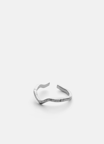 Chêne Raw Ring - Polished Steel