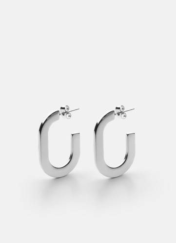 Glam Earring - Polished Steel