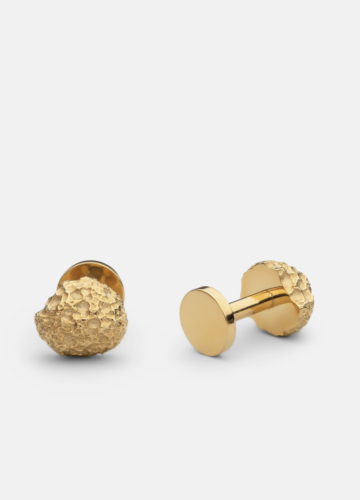 Cuff Links - Opaque Objects - Matte Gold