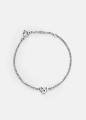 Key Chain Bracelet - Polished Steel