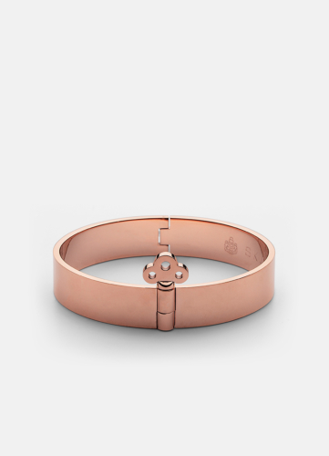 Bangle with Key Lock - Rose Gold