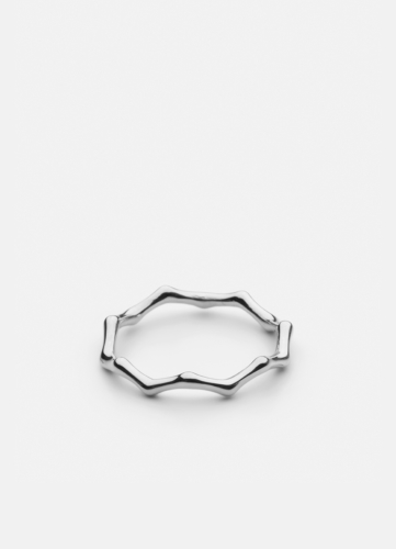 Bambou Ring - Polished Steel