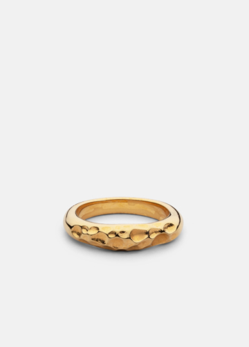 Juneau Chiseled Ring - Gold Plated