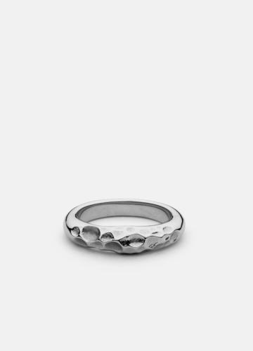 Juneau Chiseled Ring - Polished Steel
