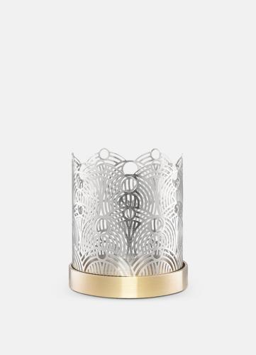 Lunar Small Candleholder - Silver