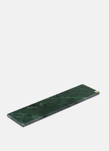 Green Marble Plate - Wide