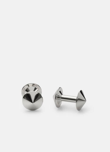 Icon Cuff Link Model X - Polished Steel