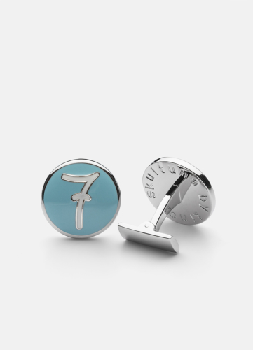 Cuff Links 7 - Azure