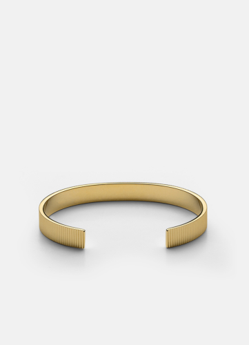 Ribbed Cuff - Gold Plated