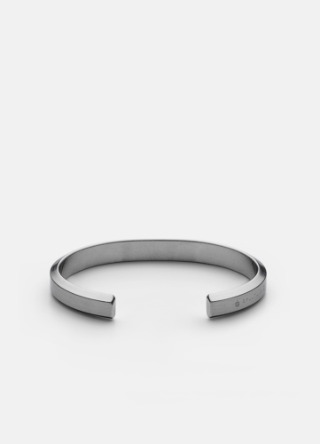 Icon Cuff - Brushed Steel