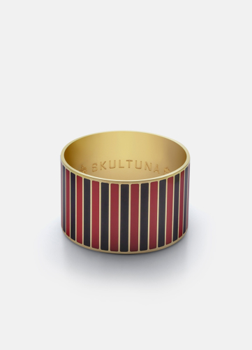 Stripe Bangle - Black & Red