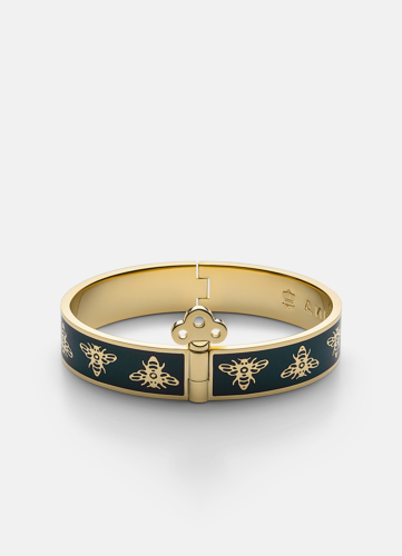 Queen Bee Bangle - Dark Green