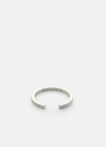 Ribbed Ring Thin - Polished Steel